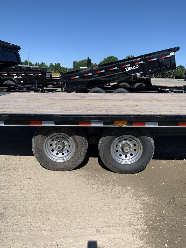 2020 Delco Trailers 24' Full Tilt GN Flatbed Trailer