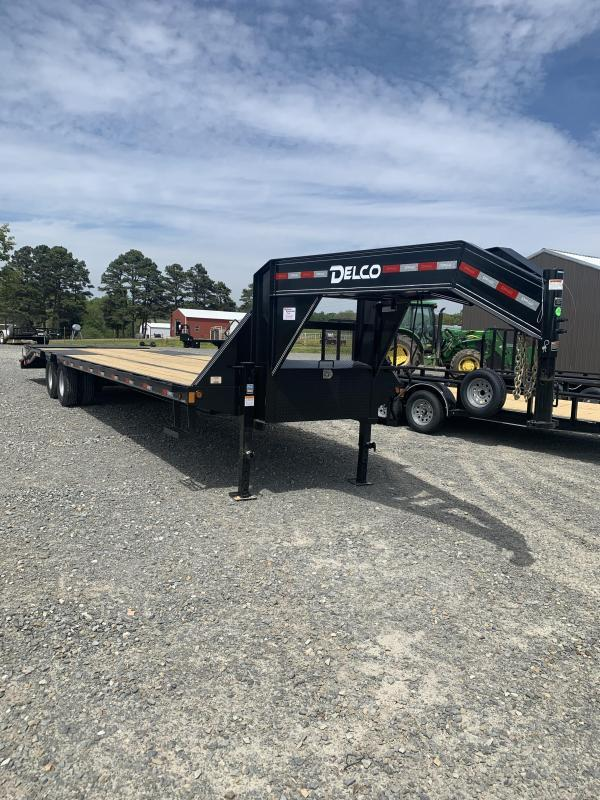 2021 Delco Trailers 36' GN Flatbed Trailer