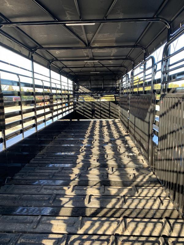 2021 Delco Trailers 28x6.8 Stock Livestock Trailer