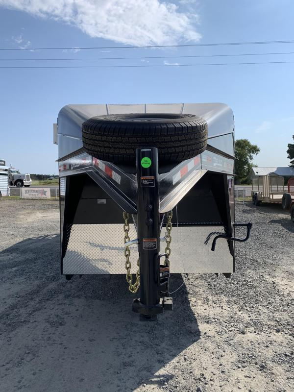 2021 Delco Trailers 24x6.8 Metal Top Stock with 4' Tack Livestock Trailer