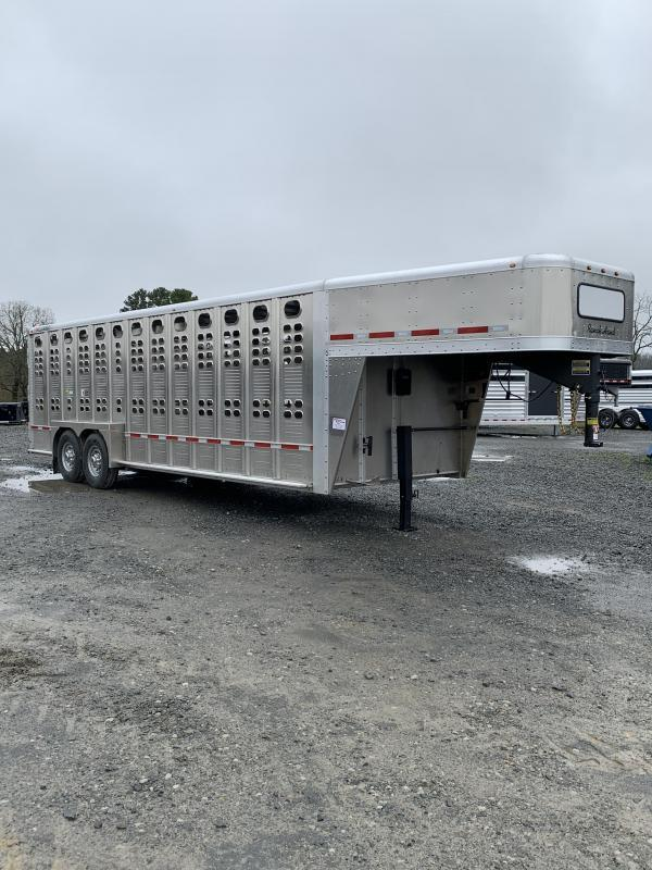 2021 Wilson Trailer Company 7'x24' Ranch Hand Livestock Trailer
