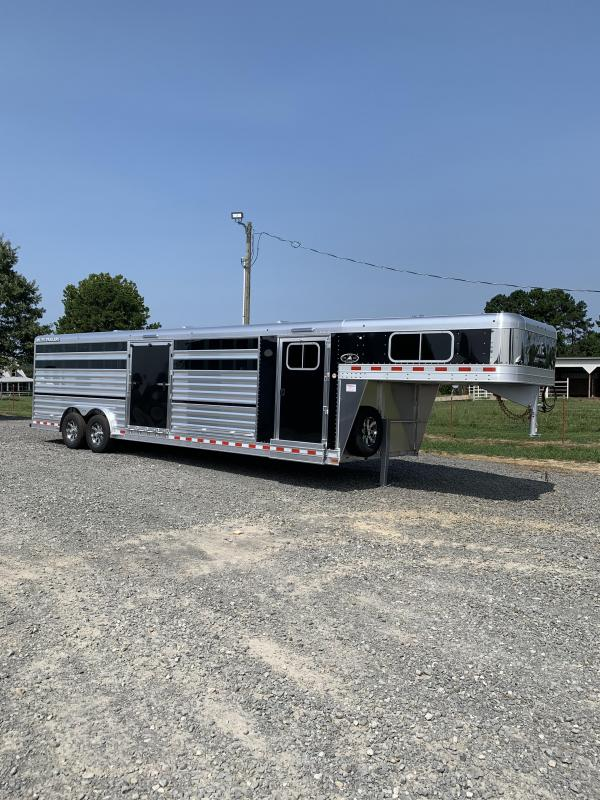 2021 Elite Trailers 8'x28' Show Cattle Stock Combo Trailer