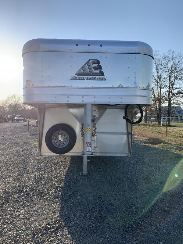2021 Elite Trailers 8'x28' Show Cattle Stock Trailer