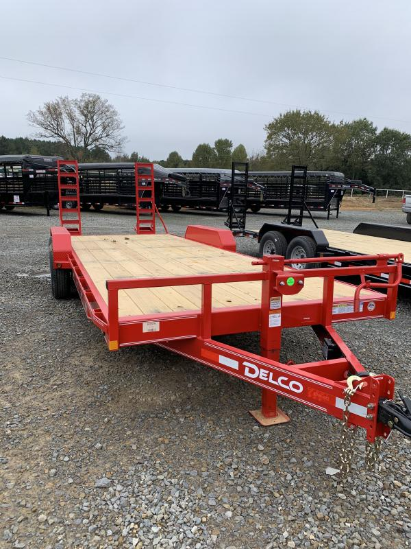 2021 Delco Trailers 20' plus 2' BP Equipment Hauler Trailer