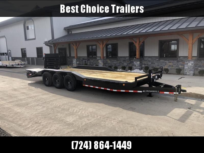 "2022 Ironbull 102x24' Equipment Trailer 21000# GVW * TRIPLE AXLE * FULL WIDTH RAMPS * 102"" DECK * DRIVE OVER FENDERS * 8"" FRAME UPGRADE"