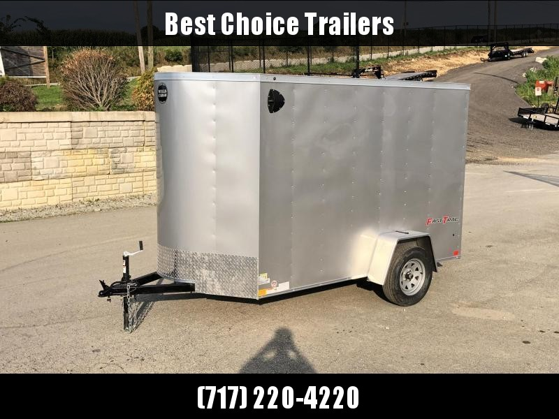 """2021 Wells Cargo 6x12' Fastrac DELUXE Enclosed Cargo Trailer 2990# GVW * SILVER EXTERIOR * RAMP DOOR * V-NOSE * .030 EXTERIOR * 6'6"""" HEIGHT * TUBE STUDS * 3/8"""" WALLS * 1 PC ROOF * 16"""" O.C. WALLS * BULLET LED'S"""
