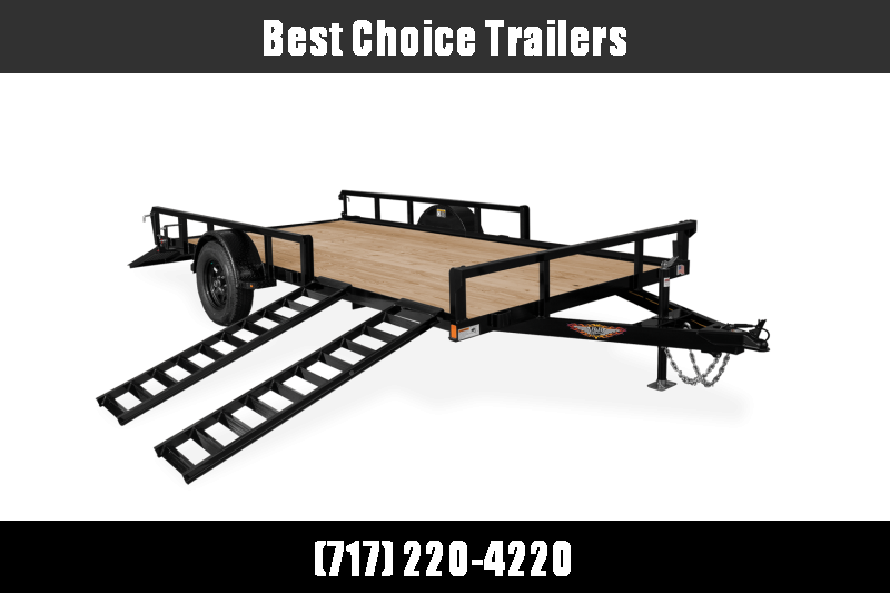 "2021 H&H 7x14' ATV Utility Landscape Trailer 2990# GVW * 2"" TUBE TOP RAIL * ATV RAMPS * FULL WRAP TONGUE * 2X2"" TUBE GATE C/M + SPRING ASSIST + FOLD FLAT * SPARE MOUNT * PROTECTED WIRING * SET BACK JACK * TRIPLE TUBE TONGUE * STAKE POCKETS * BULLET"
