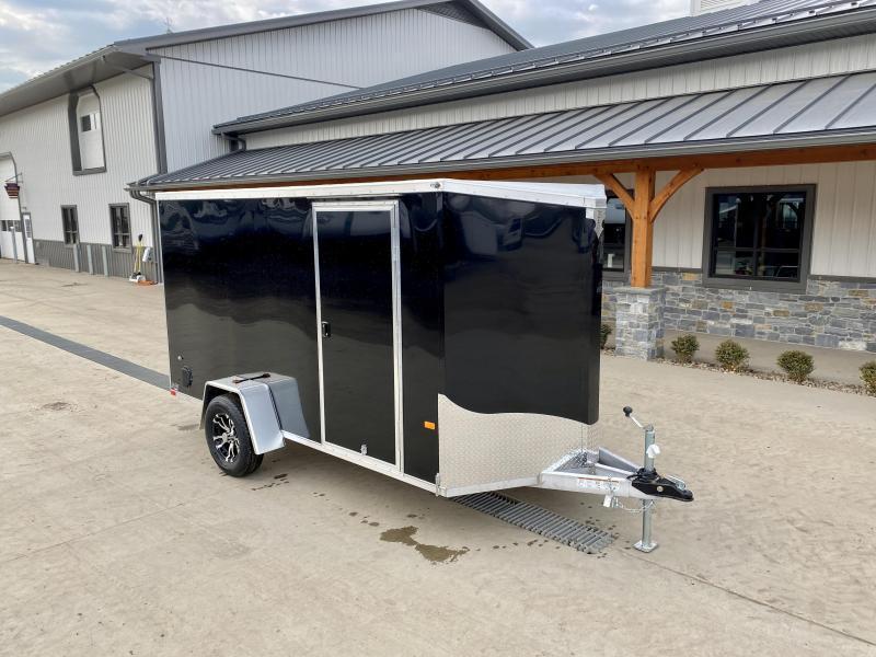 2021 Neo 6x12 NAVF Aluminum Enclosed Cargo Trailer * RAMP DOOR * BLACK * ALUMINUM WHEELS
