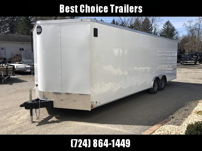 2021 Wells Cargo 8.5x24' Fastrac Enclosed Car Trailer 7000# GVW * WHITE EXTERIOR * RAMP DOOR * 1 PIECE ALUMINUM ROOF * LED'S * RADIALS * D-RINGS * TUBE BOWS