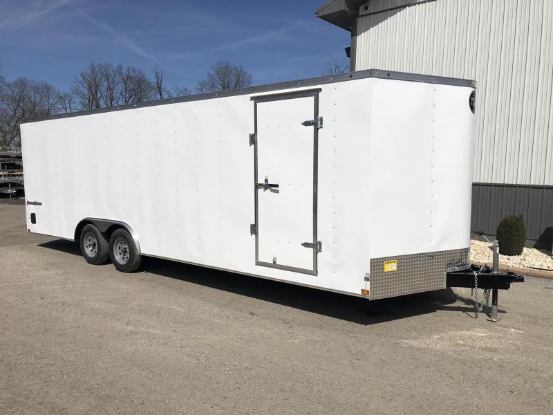 2021 Wells Cargo 8.5x24' Fastrac Enclosed Car Trailer 7000# GVW * WHITE EXTERIOR * RAMP DOOR * 1 PIECE ALUMINUM ROOF * LED'S * RADIALS * D-RINGS * TUBE BOWS