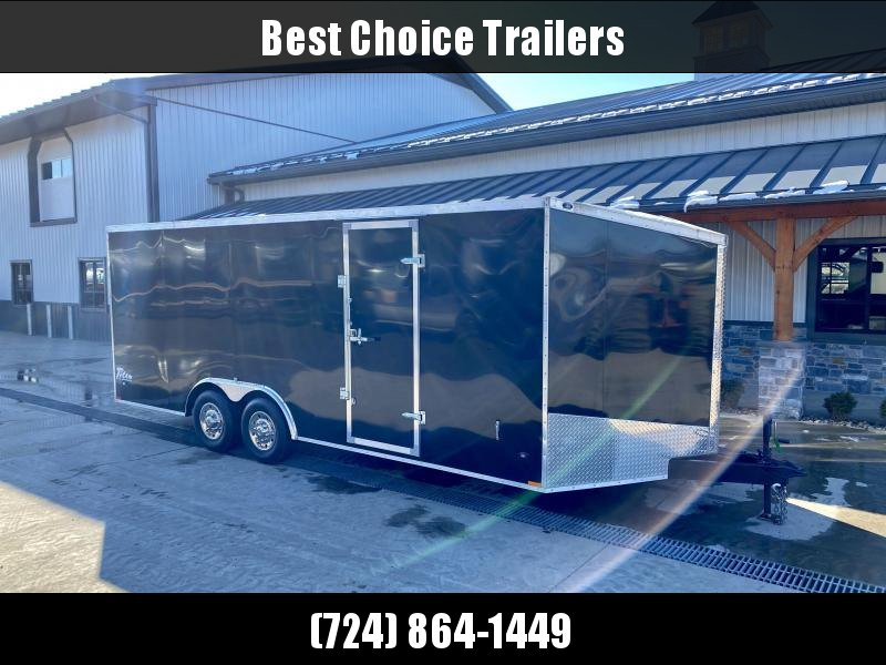 "USED 2015 Stealth Trailers 8.5x20' Enclosed Car Hauler 9990# GVW * BLACK * ALUMINUM WHEELS * V-NOSE * SCREWLESS EXTERIOR * RAMP DOOR * 6'6"" INTERIOR HEIGHT * E-TRACK * D-RINGS * ROOF VENT"