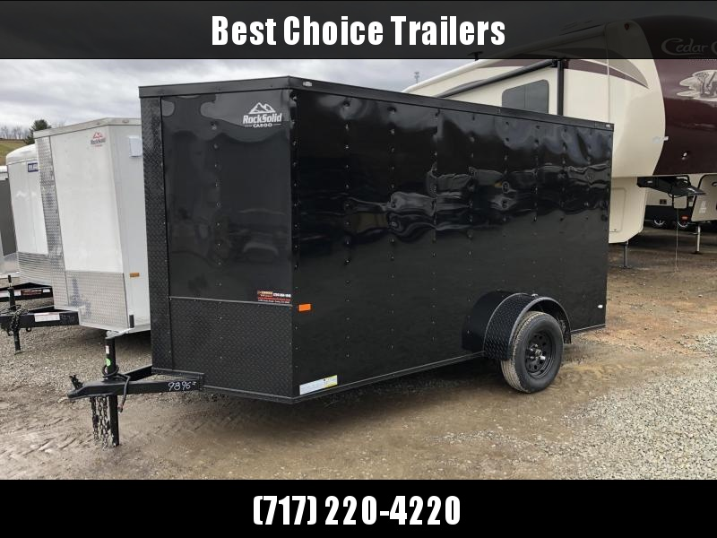 2021 Rock Solid Cargo 6x12' Enclosed Cargo Trailer 2990# GVW *  BLACKOUT PACKAGE * RAMP DOOR * RV DOOR * 16IN O.C. C/M * TUBE STUDS * PLYWOOD WALLS AND FLOOR