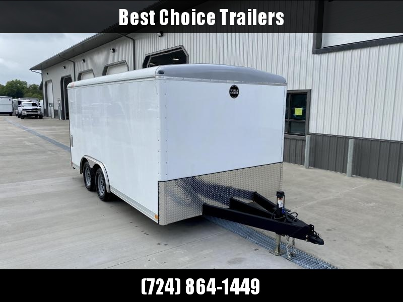 "2020 Wells Cargo 8.5X16' Wagon HD Commercial Landscape Enclosed Trailer 7000# GVW * WHITE * ROOF VENT * STABILIZER JACKS * 6'8"" INTERIOR HEIGHT * .030 EXTERIOR * HD RAMP DOOR * TRIPLE TUBE TONGUE * ADJUSTABLE COUPLER * D-RINGS * TORSION SUSPENSION * 7K JA"