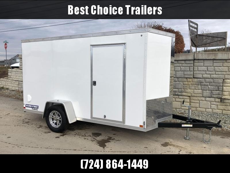 2020 Sure-Trac 6x10 STW Enclosed Cargo Trailer Ramp Door * TORSION * WHITE * STW7210SA * CLEARANCE
