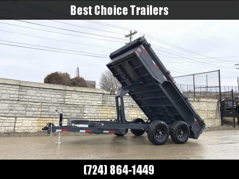 2021 Lamar 77x10' 9990# GVW Low Profile Dump Trailer * SCISSOR HOIST * DROP JACK * DELUXE TARP KIT * ADJUSTABLE COUPLER * CHARCOAL * SPARE MT * RIGID RAILS * HARD TO FIND WIDTH!!