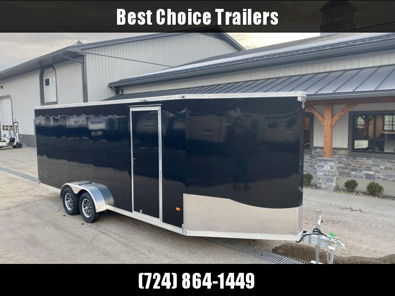 "2021 Neo 7x26' NASF Aluminum Enclosed All-Sport Trailer 7000# GVW * 7' HEIGHT UTV PKG * BLACK/SILVER EXTERIOR * FRONT/REAR NXP RAMP * VINYL WALLS * SPORT TIE DOWN SYSTEM * 16"" O.C. FLOOR * PRO STAB JACKS * UPPER CABINET * 3 LOADING LIGHTS * 2-TONE JD SLAS"