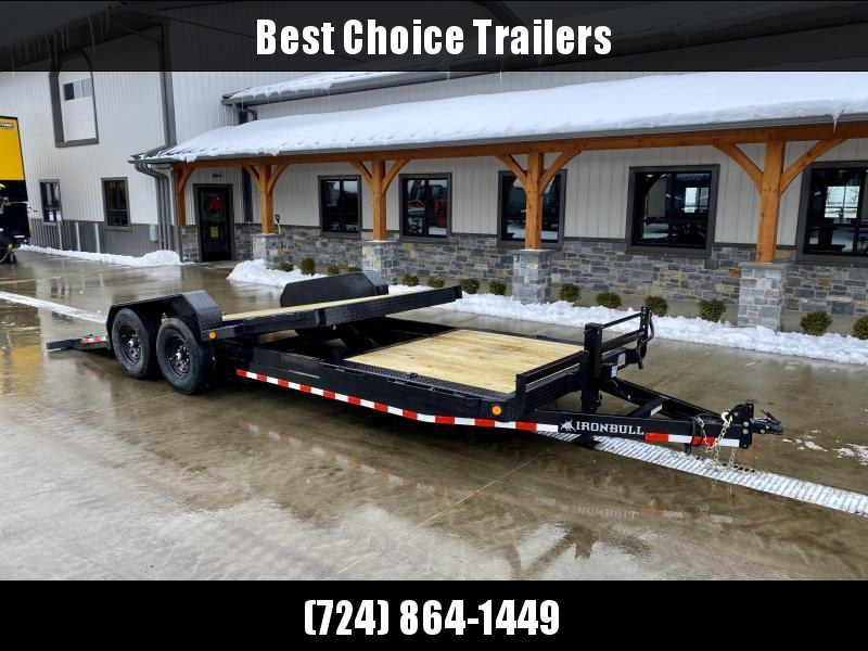 2021 Ironbull 7x16+6 Gravity Tilt Equipment Trailer 16000# GVW * 12K HYDRAULIC JACK * 8000# DEXTER AXLES * TORSION * STOP VALVE * SUPER LOW LOAD ANGLE