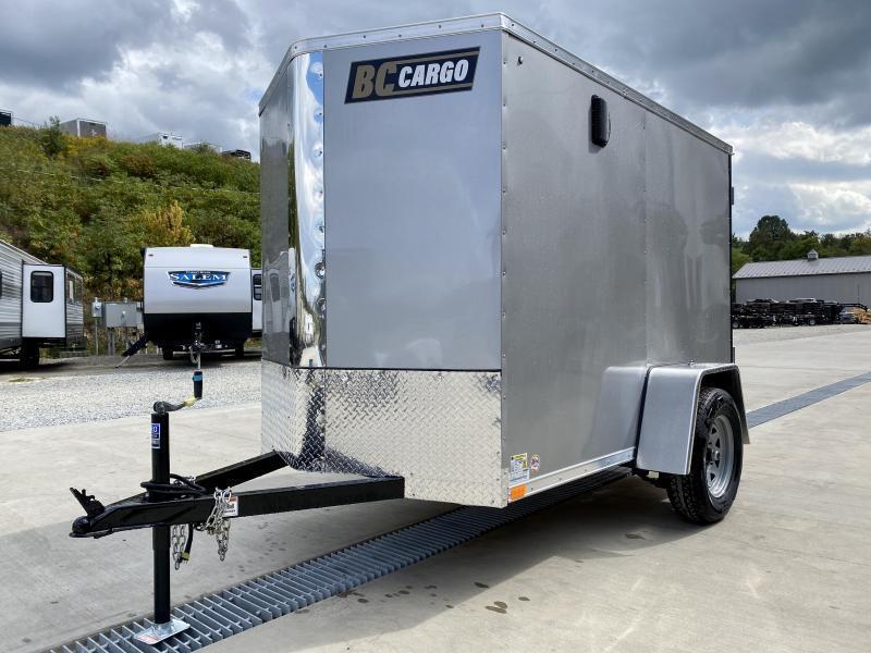 "2022 ITI Cargo 5x8' Enclosed Cargo Trailer 2990# GVW * BLACK EXTERIOR * BARN DOOR * .030 SEMI-SCREWLESS * 1 PC ROOF * 3/8"" WALLS * 3/4"" FLOOR * 16"" STONEGUARD * HIGH GLOSS PAINTED FRAME"