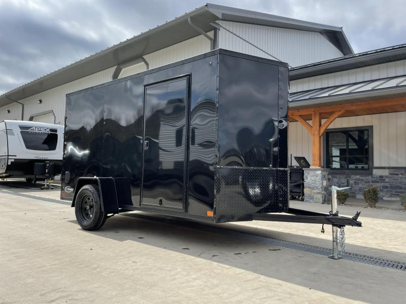 "2021 ITI Cargo 6x12' Enclosed Cargo Trailer 2990# GVW * BLACKOUT PACKAGE * .030 SEMI-SCREWLESS * 1 PC ROOF * 3/8"" WALLS * 3/4"" FLOOR * 16"" STONEGUARD * HIGH GLOSS PAINTED FRAME"