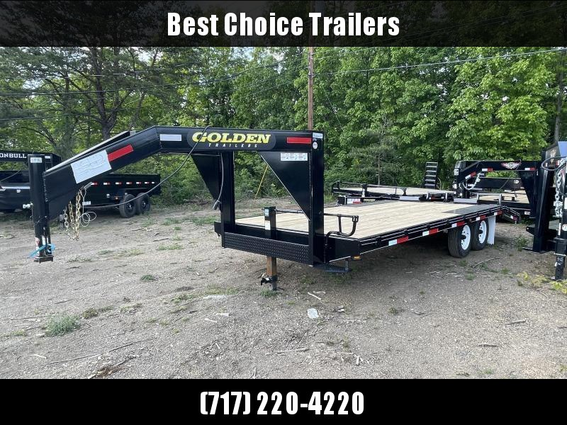 2021 Golden by Corn Pro 102x20 Gooseneck Beavertail Deckover Trailer 9990# GVW * STAND UP RAMPS + SPRING ASSIST * RUBRAIL/STAKE POCKETS * SPARE TIRE MOUNT * MUDFLAPS * CHAIN TRAY * CLEARANCE