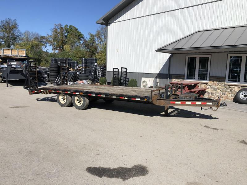 USED 2006 PJ 102x20' Beavertail Deckover Trailer 14000# GVW * TOOLBOX * I-BEAM FRAME * STAND UP RAMPS * DEXTER'S