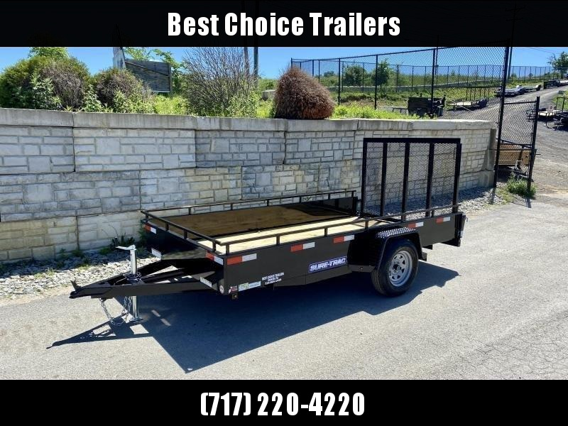 """2021 Sure-Trac 6x12' Solid Side Utility Landscape Trailer 2990# GVW * 2X2"""" TUBE GATE C/M + SPRING ASSIST * FOLD FLAT GATE * TOOLESS GATE REMOVAL * SPARE MOUNT * PROTECTED WIRING * SET BACK JACK * TRIPLE TUBE TONGUE * HD FENDERS * TUBE BUMPER * HIGH SIDE"""