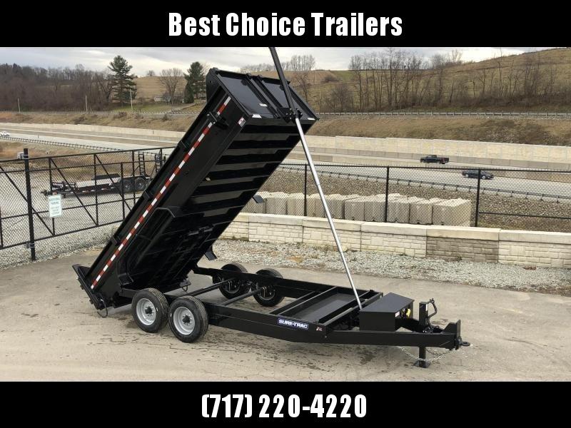 2021 Sure-Trac 7x16' LowPro HD Dump Trailer 16000# GVW * 8K AXLE UPGRADE * TELESCOPIC HOIST * DELUXE TARP KIT