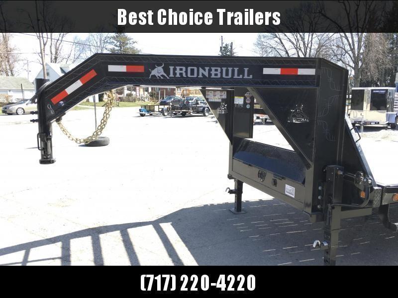 """2021 Ironbull 102x22' Gooseneck Deckover Power Tilt Trailer 14000# GVW * SCISSOR HOIST * I-BEAM FRAME * RUBRAIL/STAKE POCKETS/PIPE SPOOLS/D-RINGS/BANJO EYES * 6"""" TUBE BED FRAME * 4X4X1/4 WALL TUBE BED RUNNERS (12#/') * DUAL 12K JACKS * 2-3-2 WARRANTY"""
