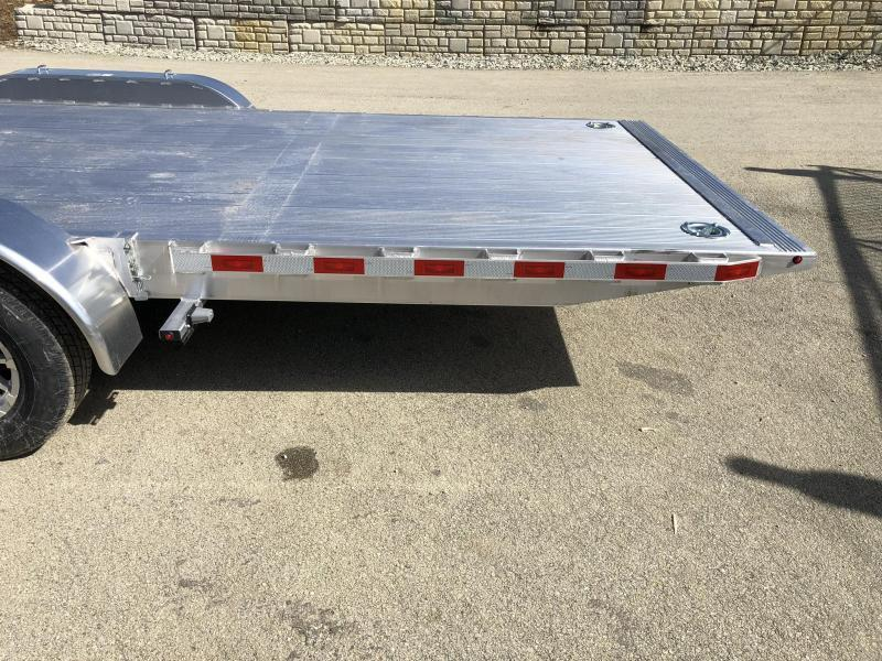 """2021 H&H 7x20' DELUXE Aluminum Power Tilt Car Hauler Trailer 9990# GVW * ROCK GUARD * DUAL TOOLBOXES * EXTRUDED FLOOR * SWIVEL D-RINGS * WIRELESS REMOTE * 8"""" CHANNEL FRAME * REMOVABLE FENDERS * ALUMINUM WHEELS"""