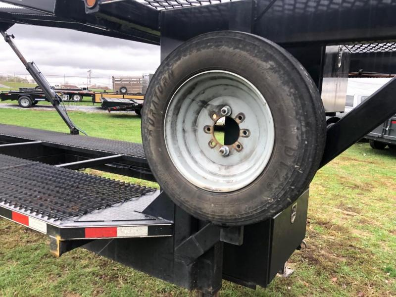 USED 2018 Kaufman Double Deck EZ 4 Car Hauler Trailer - 25000 GVWR / 47 ft. * WINCH PACKAGE * HEAVY MESH * SPARE TIRE * 8000# AXLES * DUAL TOOLBOXES