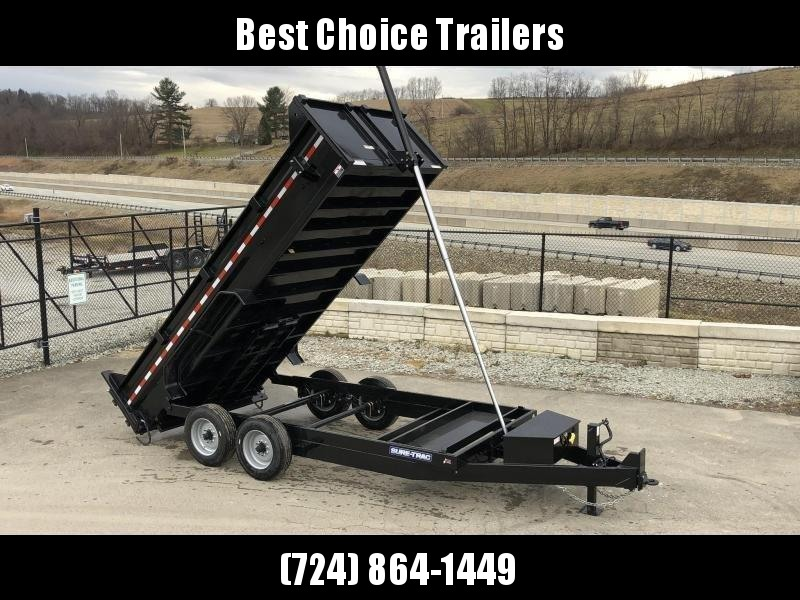 2021 Sure-Trac 7x16' LowPro HD Dump Trailer 16000# GVW * 8K AXLE UPGRADE * TELESCOPIC HOIST * DELUXE TARP KIT