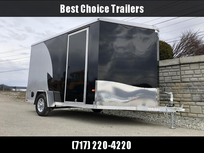 "2021 Neo 7x12 NAMR Aluminum Enclosed Motorcycle Trailer SINGLE AXLE 2990# GVW * PEWTER & CHARCOAL * VINYL WALLS * ALUMINUM WHEELS * +12"" HEIGHT UTV SPORTS PACKAGE"