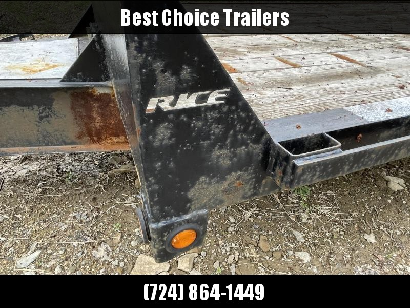 USED 2012 Rice 102x22 Deckover Trailer 14000lb GVW