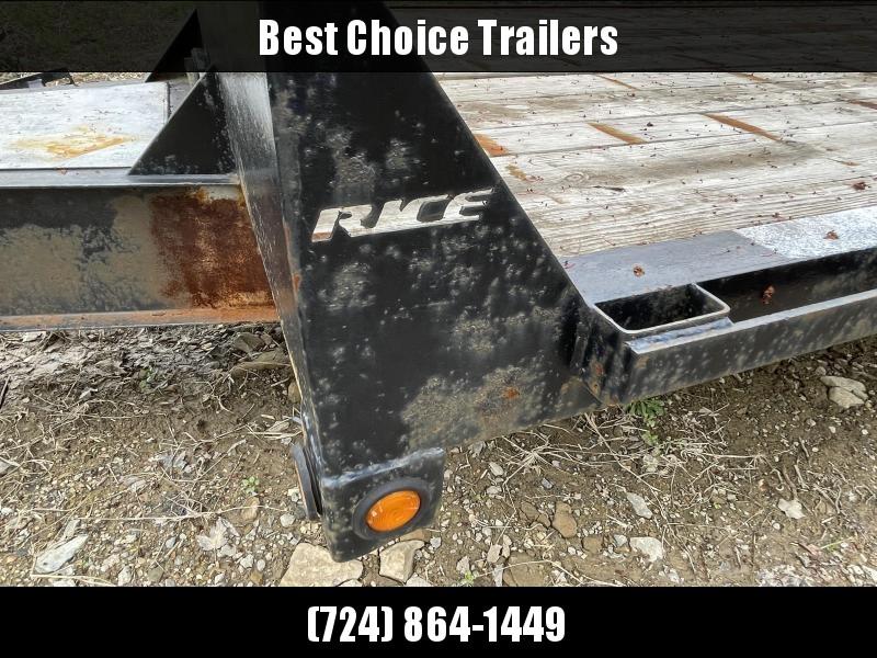 USED 2012 Rice 102x22 Deckover Trailer 14000lb GVW