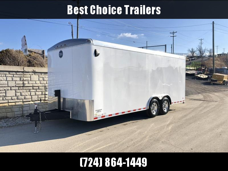 "2020 Wells Cargo 8.5x20' Road Force Enclosed Car Trailer 12000# GVW * SILVER EXTERIOR * RAMP DOOR * ROUND TOP * DEXTER 6000# TORSION AXLES * SCREWLESS .030 EXTERIOR * 6'6"" HEIGHT * TUBE STUDS * 1 PC ROOF * 16"" O.C. WALLS/FLOOR * RV DOOR * ARMOR GUARD"