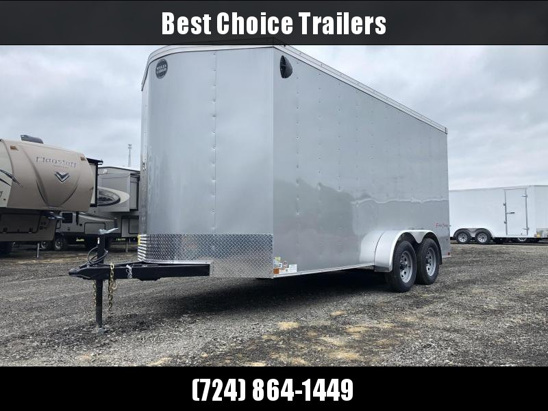 2020 Wells Cargo 7x16' Fastrac DELUXE Enclosed Cargo Trailer 7000# GVW * CHARCOAL * RAMP DOOR * V-NOSE * 7' HEIGHT UTV PACKAGE