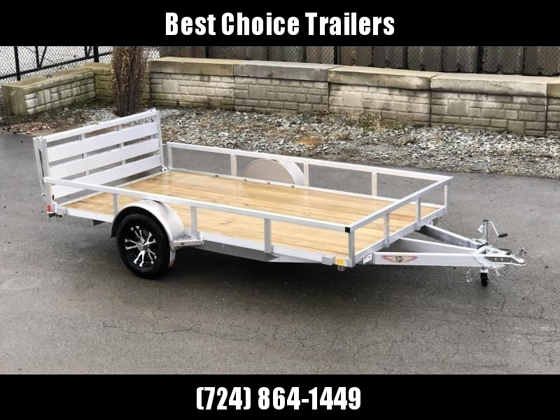 "2021 H&H 5.5x10' Aluminum Utility Landscape Trailer 2990# GVW * BI FOLD GATE * ALUMINUM WHEELS * TUBE TOP * TRIPLE TUBE TONGUE * TUBE TONGUE * SWIVEL JACKS * STAKE POCKETS * EXTENDED 54"" GATE"
