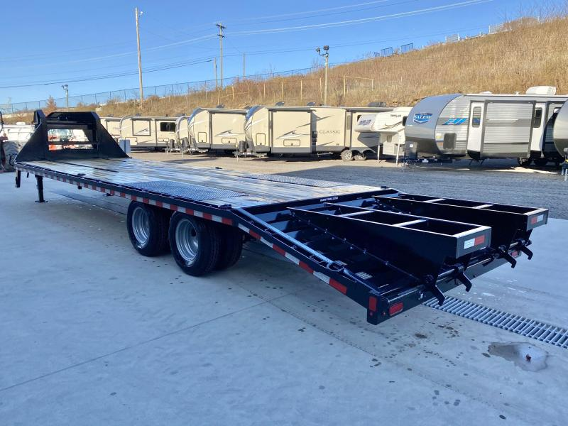 "2021 Sure-Trac 102x30' Gooseneck Beavertail Deckover Trailer 22500# GVW * DEXTER AXLES * FLIPOVER RAMPS + SPRING ASSIST * 12"" I-BEAM * PIERCED FRAME * RUBRAIL/STAKE POCKETS/PIPE SPOOLS/10 D-RINGS * CROSS TRAC BRACING * HD BEAVERTAIL"