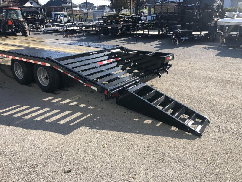 "2020 Sure-Trac 102x25' HD Beavertail Deckover Trailer 25900# GVW * DEXTER 12K AXLES * DUAL JACKS * INTEGRATED TOOLBOX * FLIPOVER RAMPS + SPRING ASSIST * 12"" I-BEAM * PIERCED FRAME * RUBRAIL/STAKE POCKETS/PIPE SPOOLS/10 D-RINGS * CROSS TRAC"