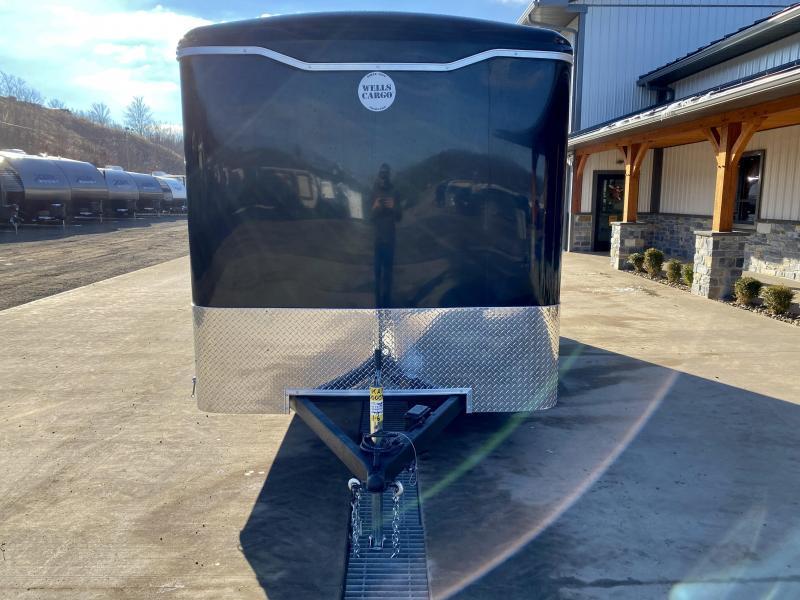 "2021 Wells Cargo 7x16' Enclosed Cargo Trailer 7000# GVW * BARN DOORS * BLACK EXTERIOR * 3/4"" FLOOR * 16"" OC TUBE CROSSMEMBERS * 1-PIECE ROOF * 0.30 SCREWLESS EXTERIOR * D.O.T. LED LIGHTING"