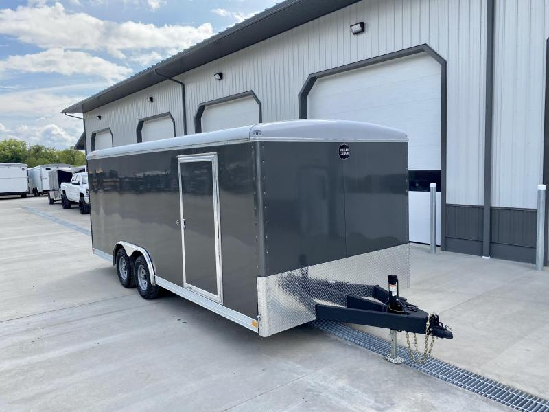 "2020 Wells Cargo 8.5X20' Wagon HD Enclosed Car Trailer 9990# GVW * CHARCOAL * 6'8"" INTERIOR HEIGHT * .030 EXTERIOR * HD RAMP DOOR * TRIPLE TUBE TONGUE * ADJUSTABLE COUPLER * D-RINGS * TORSION SUSPENSION * 7K JACK"