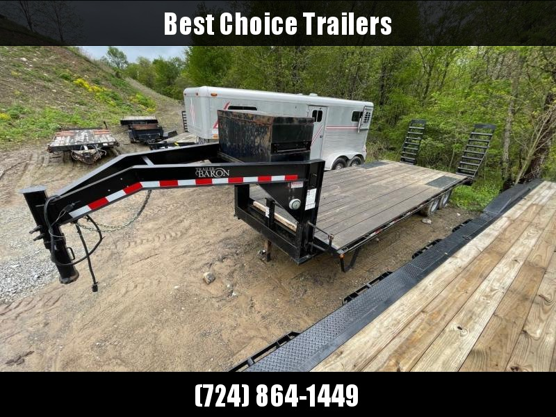 USED 2018 Quality 102x24' Gooseneck Beavertail Deckover Trailer 14000# GVW