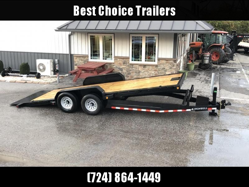2021 Ironbull 7x22' Power Tilt Equipment Trailer 16000# GVW * 8000# DEXTER TORSION AXLES * LOW LOADING ANGLE * POWER TILT * WINCH PLATE * REMOVABLE FENDERS * RUBRAIL/STAKE POCKETS/PIPE SPOOLS/D-RINGS * 2-3-2 WARRANTY
