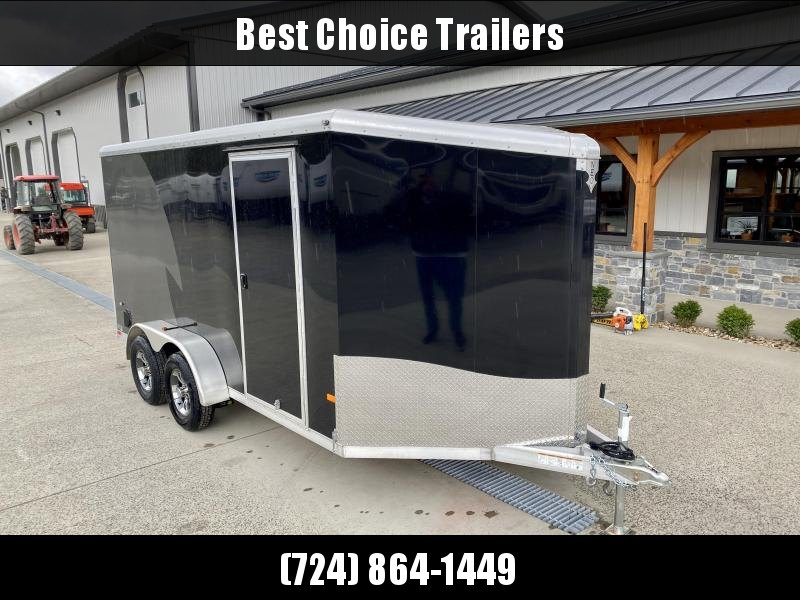2020 NEO Trailers 7X14 NAMR Aluminum Enclosed Motorcycle Trailer BLACK CHARCOAL VINYL WALLS 6 HEIGHT ALUMINUM WHEELS TIE DOWN SYSTEM
