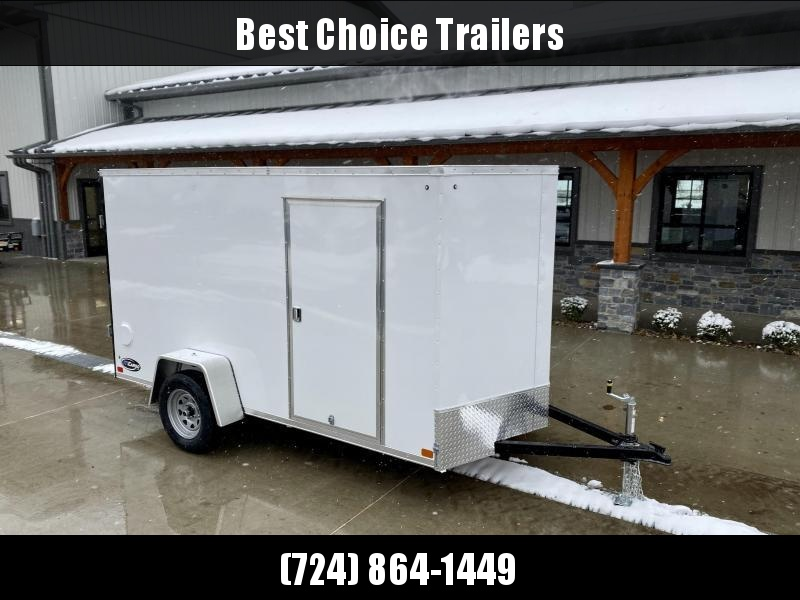 """2021 ITI Cargo 7x12' Enclosed Cargo Trailer 2990# GVW * WHITE EXTERIOR * .030 SEMI-SCREWLESS * 1 PC ROOF * 3/8"""" WALLS * 3/4"""" FLOOR * 16"""" STONEGUARD * HIGH GLOSS PAINTED FRAME"""