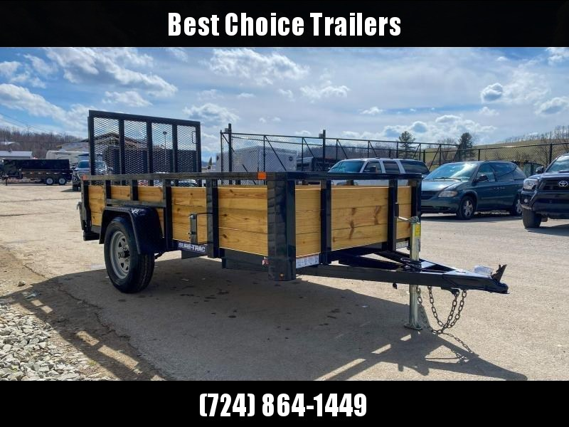 "2021 Sure-Trac 5x10' High Side Utility Landscape Trailer 2990# GVW * 24"" 3-BOARD HIGH SIDE * 2"" TUBE TOP RAIL * 2X2"" TUBE GATE C/M + SPRING ASSIST + FOLD FLAT * TOOLESS GATE REMOVAL * SPARE MOUNT * PROTECTED WIRING * SET BACK JACK * TRIPLE TUBE TONGUE * D"