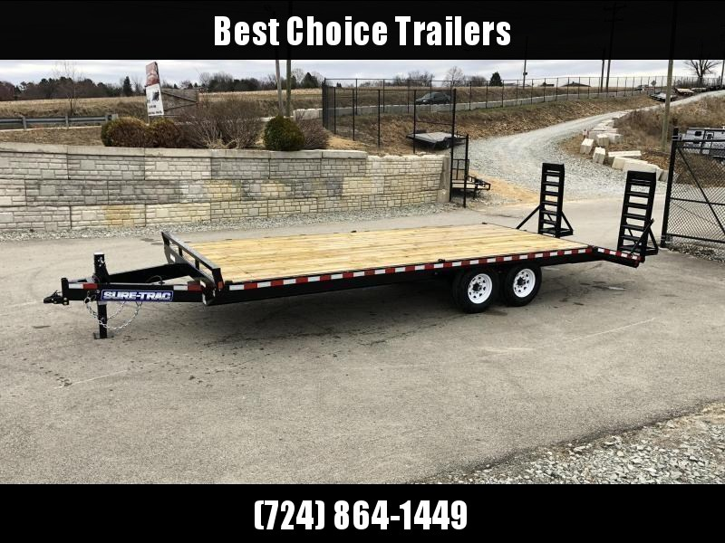 """2021 Sure-Trac 102x22 Beavertail Deckover Trailer 15000# GVW * HD 4"""" CHANNEL STAND UP DELUXE RAMPS + SPRING ASSIST * 10"""" I-BEAM MAINFRAME * CHANNEL SIDE RAIL * RUBRAIL/STAKE POCKETS/D-RINGS * ADJUSTABLE COUPLER * 12K DROP LEG JACK * LED'S"""