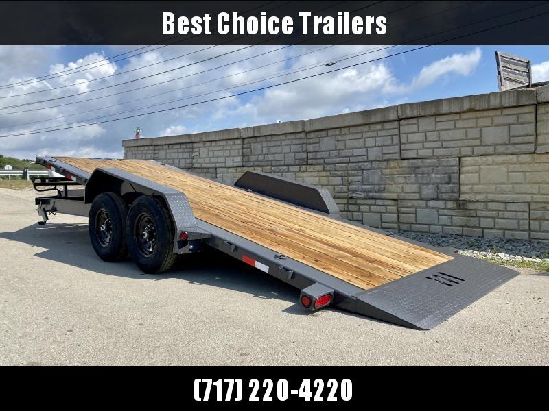 2021 Load Trail Power Tilt Equipment Trailer 14000# GVW * WINCH PLATE * SPARE MOUNT * TORSION DEXTER AXLES * ADJUSTABLE COUPLER * DROP LEG JACK * LED LIGHTING * GRAY IN COLOR * PRIMER * 2-3-2 WARRANTY