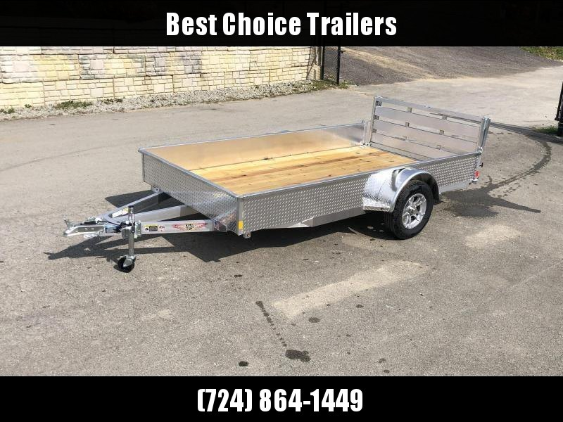 "2021 H&H 76x10' Aluminum Solid Side Utility Landscape Trailer 2990# GVW * SOLID ALUMINUM DIA PLATE SIDES * BI FOLD GATE * ALUMINUM WHEELS * TRIPLE TUBE TONGUE * TUBE TONGUE * SWIVEL JACKS * STAKE POCKETS * EXTENDED 54"" GATE"
