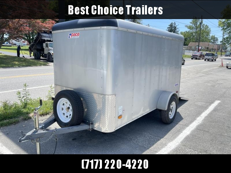 USED Pace American 5x10 Enclosed Cargo Trailer 2990# GVW * RAMP DOOR * SPARE TIRE * E-TRACK